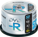 FUJIFILM 50 DVD-R 4.7 GB 16x Cake Box