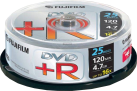 FUJIFILM 25 DVD+R 4.7 GB 16x Cake Box