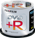 FUJIFILM 100 DVD+R 4.7 GB 16x Cake Box