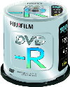 FUJIFILM 100 DVD-R 4,7 GB 16x Cake Box
