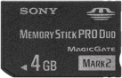 SONY PRO Duo - Carte mémoire flash - 4 Go - Noir