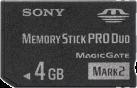 SONY PRO Duo - Flash-Speicherkarte - 4 GB - Schwarz