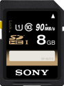 SONY SF8U - Carte mémoire flash - 8 Go - Noir