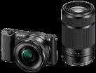 SONY α5100, 16-50+55-210mm, 24.3 MP, Noir