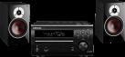 DENON RCD-M40 + DALI ZENSOR 3 - Mikro Hi-Fi System - 2x 125 W - Schwarz
