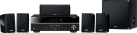 Yamaha YHT-1840 - Sistema home theater a 5.1 canali - 4 input HDMI / 1 output HDMI - Nero