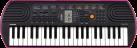 CASIO SA-78 - Tastatur - 44 Minitasten - Schwarz/Pink