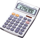 SHARP EL334E - Calcolatrice da tavolo - Bianco/Grigio