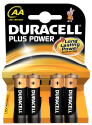 DURACELL Plus Power MN1500/AA 4er
