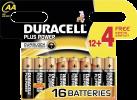 DURACELL Plus Power AA, 12 + 4 Gratuit