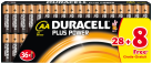 DURACELL Plus Power MN1500 / AA 28er Pack + 8 Gratis