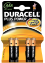 DURACELL Plus Power MN2400/AAA/LR6 4er Pack