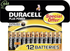 DURACELL Plus Power AAA, pacchetto da 12