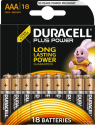 Duracell Plus Power AAA Batterien - 18 Stück