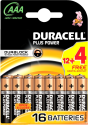 DURACELL Plus Power AAA, 12 + 4 Gratis