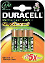 DURACELL StayCharged, AAA 4er Pack
