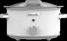 Crock-Pot CSC038X - Pentola a cottura lenta sauté con coperchio a cerniera - 4.5 l - Bianco