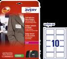 AVERY Zweckform Étiquettes de badge de nom autoadhésives, 50 x 80 mm, 200 étiquettes