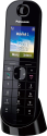 Panasonic KX-TGQ400 - Telefono fisso senza fili - Tempo di conversazione fino a 17.5 ore - Nero