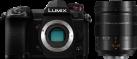 Panasonic LUMIX DC-G9 + LEICA DG Vario-Elmarit 12-60 mm / F2.8-4.0 ASPH. - Appareil photo hybride + objectif zoom standard - 20.33 MP - Noir