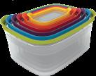 Joseph Joseph Nest contenitori di plastica, Set a 6