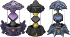 Crystals 3er Pack 4 (Dark, Magic, Undead) pour Skylanders Imaginators