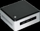 intel NUC-Kit NUC5i5MYHE + Mainboard NUC5i5MYBE - Mini-PC - Intel Core i5-5300U (2.3 GHz) - Schwarz/Silber