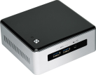 Intel Next Unit of Computing Kit NUC5i3MYHE - Barebone - Intel Core i3 5010U - Nero/Argento