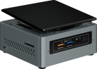 Intel® NUC Kit NUC6CAYH - Mini PC - Intel® Celeron® J3455 Processore - Nero/Grigio