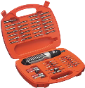 BLACK & DECKER A7071 - Coffret de vissage - 54 pièces - orange