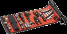 BLACK & DECKER A7144 - Rolltasche mit Autozwerkzeug-Zubehör - Schwarz/Orange