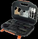 BLACK & DECKER A7187 - Set Bits e suchielli - 100 pezzi - Nero/arancione