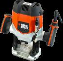 BLACK & DECKER KW900E - Oberfräse - 1200 Watt - Orange/Schwarz
