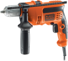 BLACK & DECKER KR654CRESK - Perceuse à percussion - 650 watts - orange/noir