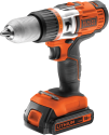 BLACK & DECKER EGBHP188K - Perceuse à percussion sans fil - 18 volt - orange/noir