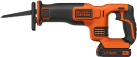 BLACK & DECKER BDCR18 - Scie sabre - 18 volt - orange/noir