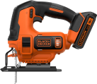 BLACK & DECKER BDCJS18 - Seghetto alternativo - 18 volt - arancione/nero