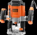 BLACK & DECKER KW1200E - Défonceuse électronique - 1200 W - Orange/Noir