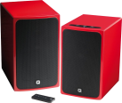 Q-ACOUSTICS BT3 - 1 Paar Bluetooth Lautsprecher - 2 x 50 W - Rot