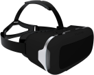 STEALTH VR200 - Virtual Reality Headset - Für iPhone/Android - Schwarz