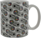 abysse CORP Super Nintendo Controller Becher - 300 ml - Grau/Weiss