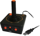 Atari Vault PC Bundle + 100 PC Steam Games - Joystick USB - Noir