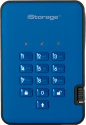 iStorage diskAshur 2 SSD - Disque dur externe - Capacité 2 To - Bleu