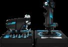 Logitech G Pro Flight X56 Rhino - Gaming-Flugsteuerungssystem - Min. 231 programmierbare Bedienelemente - Schwarz