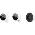 Logitech Circle 2 Kombipaket - 2 Sicherheitskameras + 1 Ersatzakku - Full HD (1080p) - Wi-Fi - Weiss