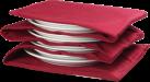 DOMO Tellerwärmer - Für 8 Teller - Rot
