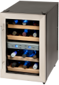 DOMO DO909WK - Weinkühler - Für 12 Flaschen - Grau