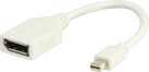 VALUELINE Adaptateur DisplayPort - Fiche Mini DisplayPort - Connecteur DisplayPort - 0.2 m - Blanc