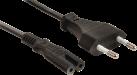 König Electronic - Câble d'alimentation Euro - Noir