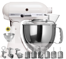 KitchenAid 1011.01.12 KSM150 Premium-Set, weiss
